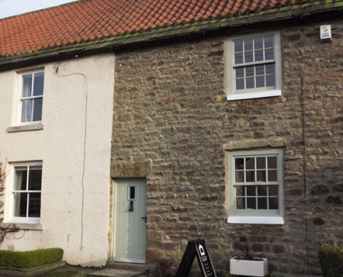 Grade II listed cottage recently refurbished in Gilling West